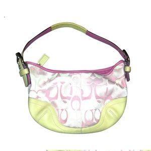 Used Coach Signature Authentic Purse Handbag Pink